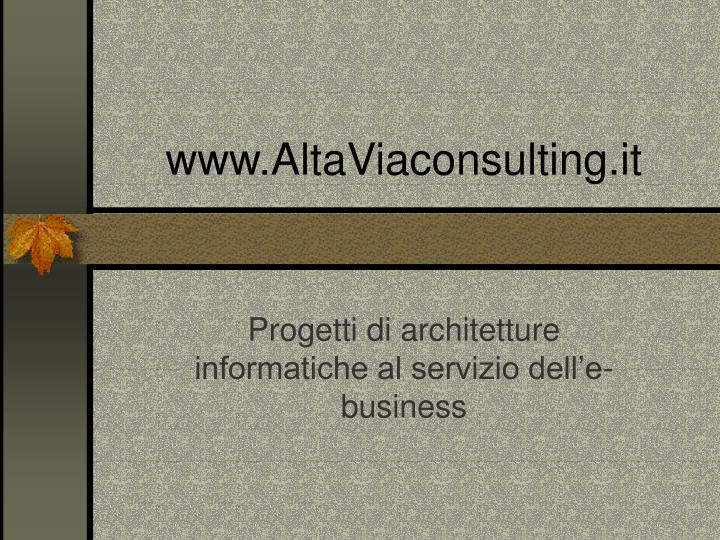 www.AltaViaconsulting.it