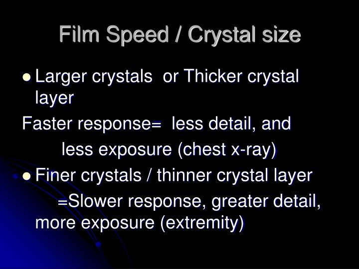 Film Speed / Crystal size