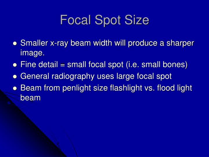 Focal Spot Size