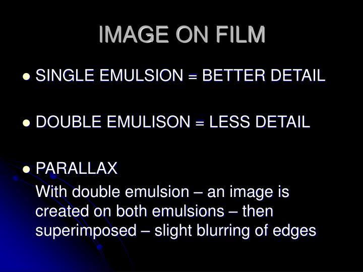 IMAGE ON FILM