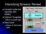 intensifying screens review