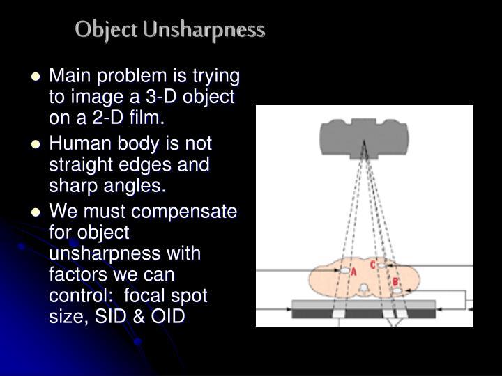 Object Unsharpness