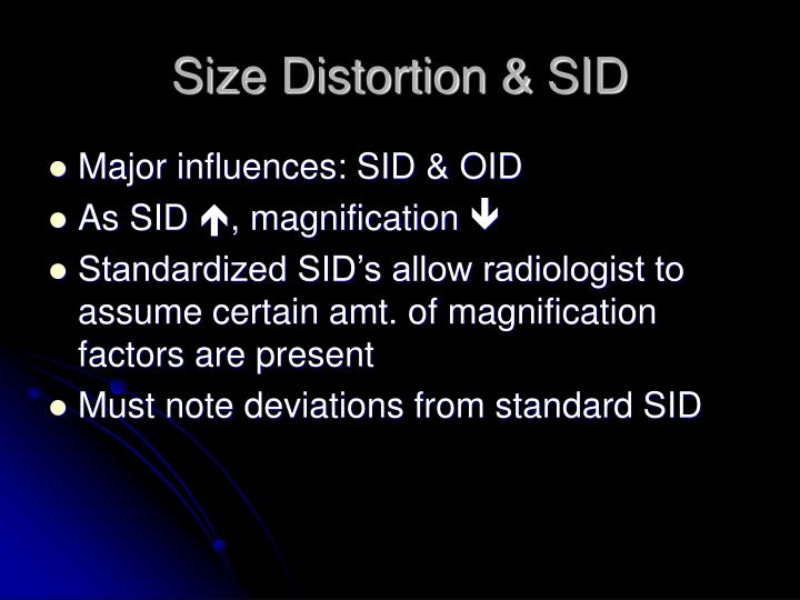 Size Distortion & SID