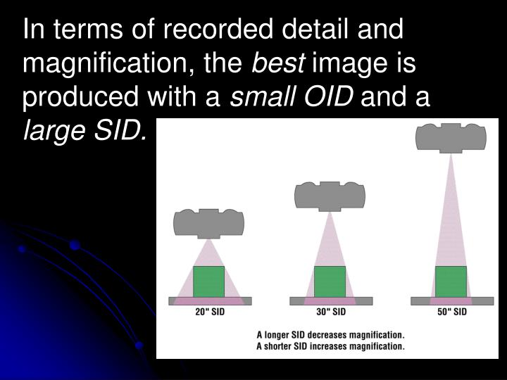 In terms of recorded detail and magnification, the