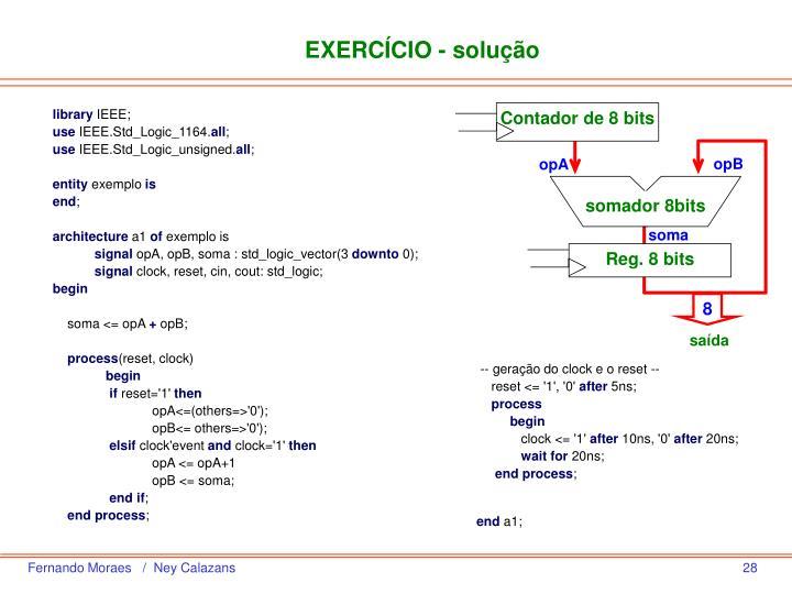 EXERCÍCIO - solução