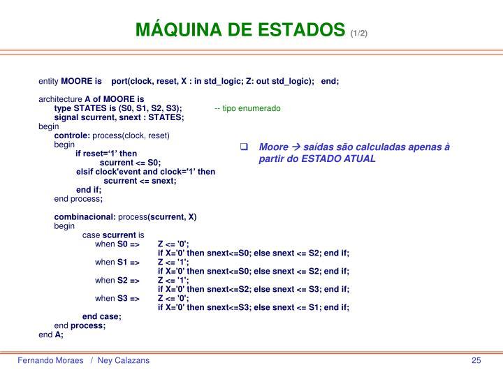 MÁQUINA DE ESTADOS