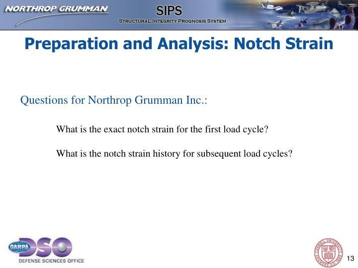 Preparation and Analysis: Notch Strain