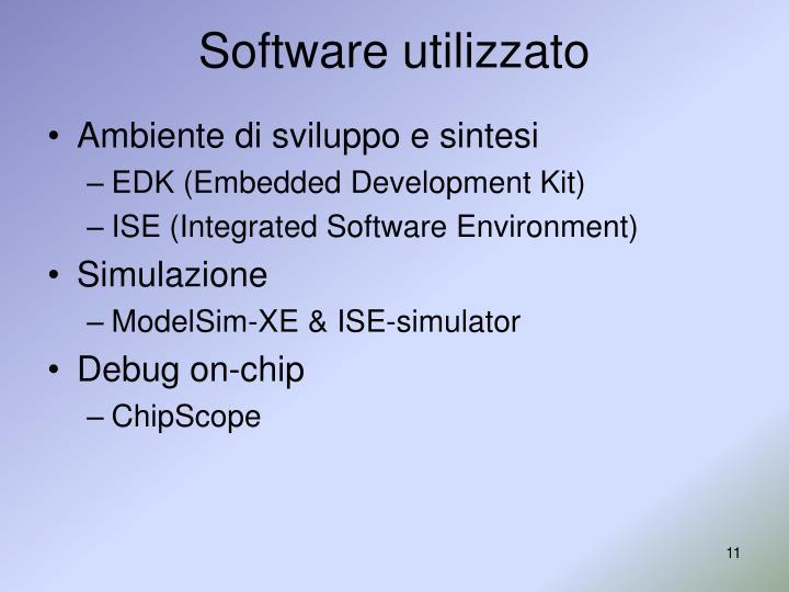 Software utilizzato