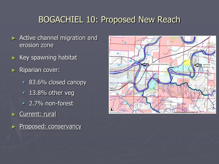 BOGACHIEL 10: Proposed New Reach