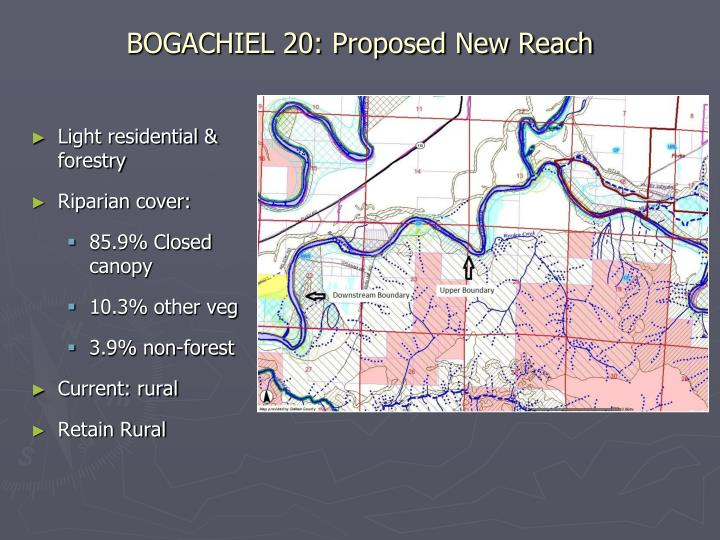 BOGACHIEL 20: Proposed New Reach