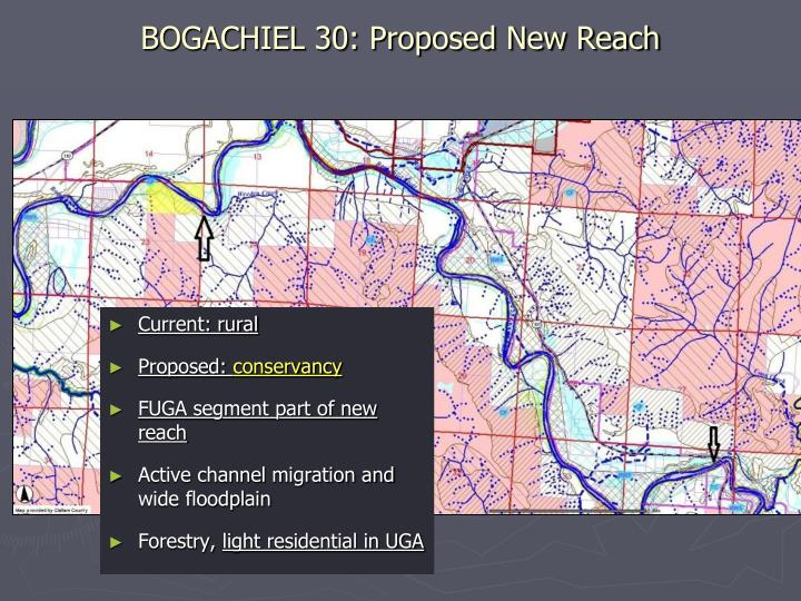 BOGACHIEL 30: Proposed New Reach
