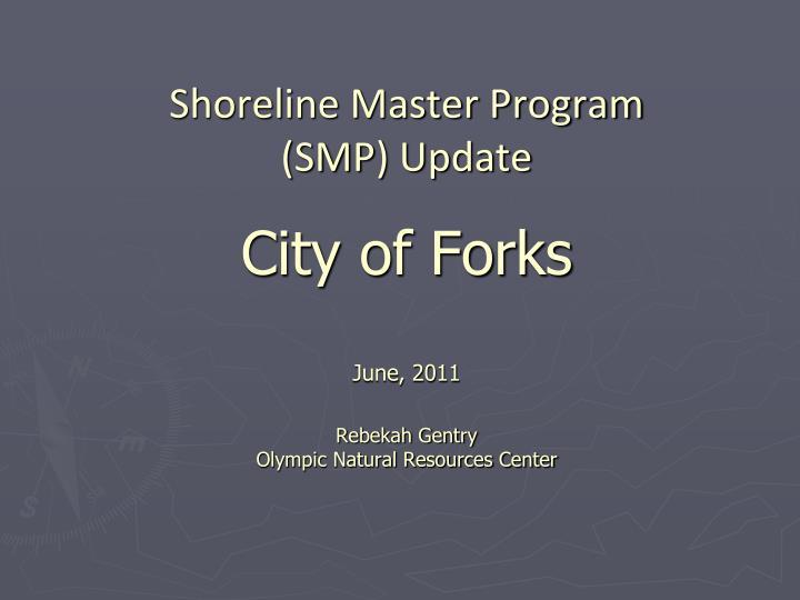Shoreline Master Program