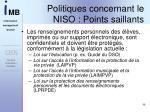 politiques concernant le niso points saillants4