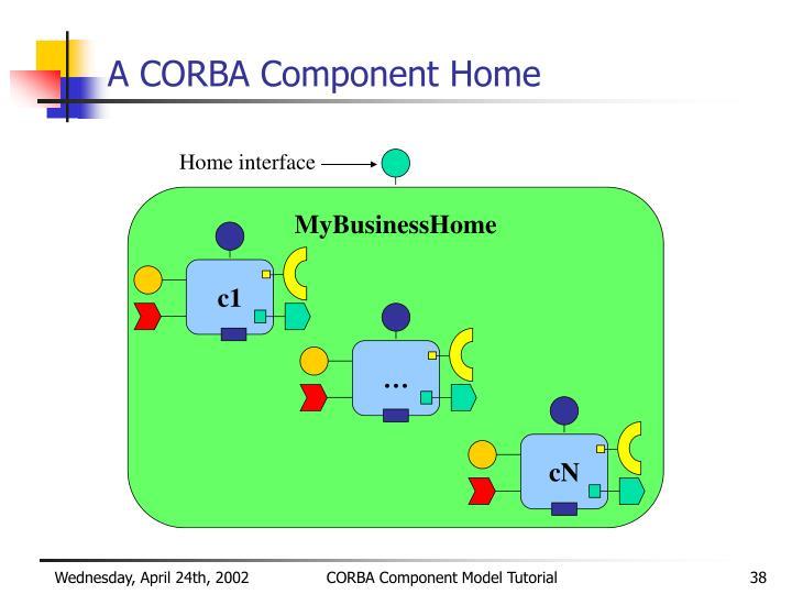 A CORBA Component Home