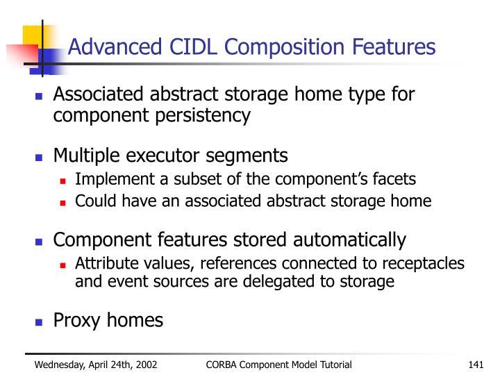 Advanced CIDL Composition Features