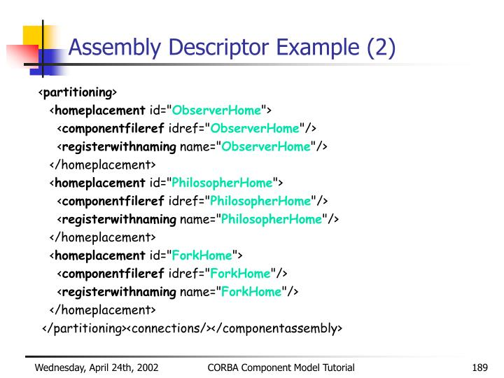 Assembly Descriptor Example (2)
