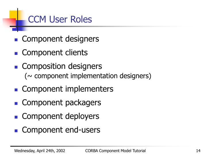 CCM User Roles