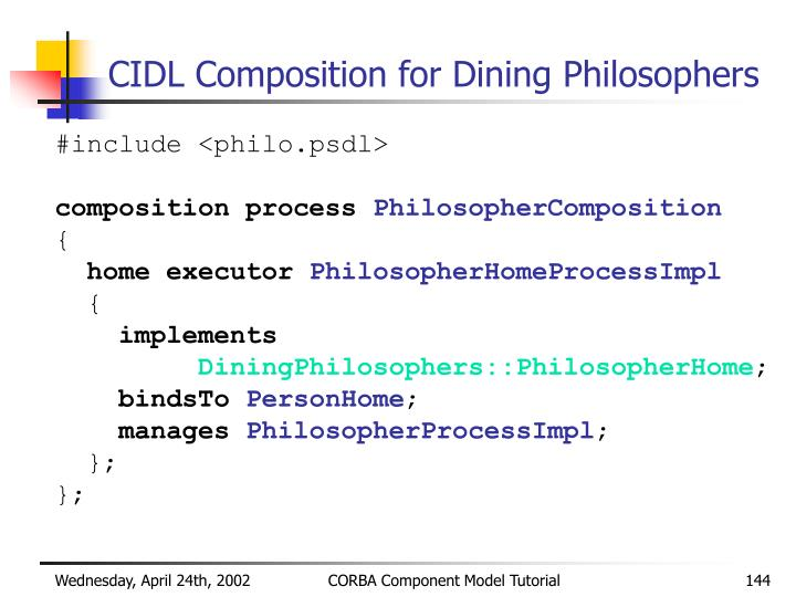 CIDL Composition for Dining Philosophers