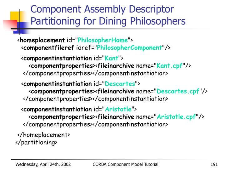 Component Assembly Descriptor