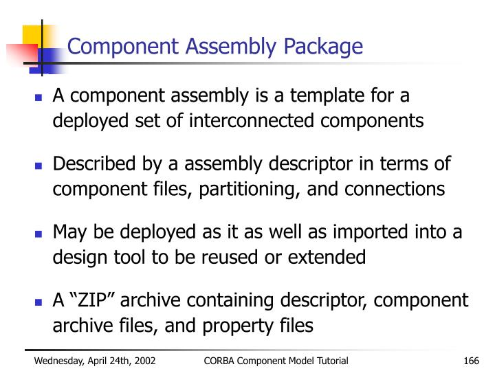 Component Assembly Package