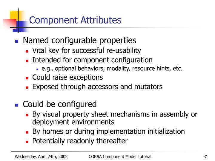 Component Attributes
