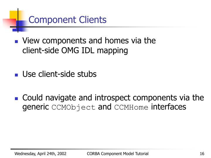 Component Clients
