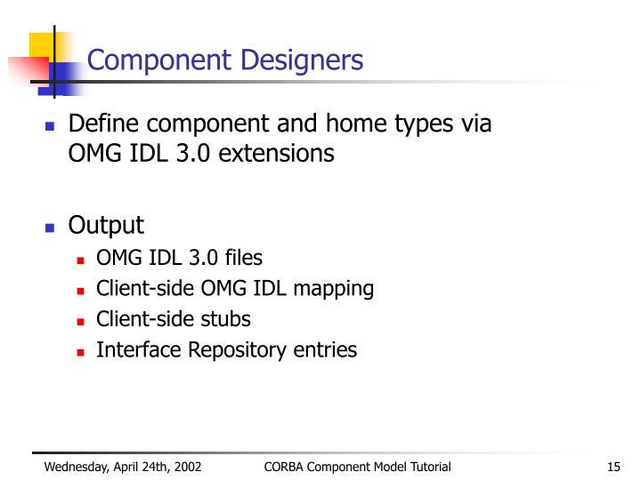 Component Designers