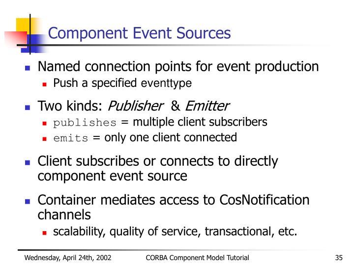 Component Event Sources
