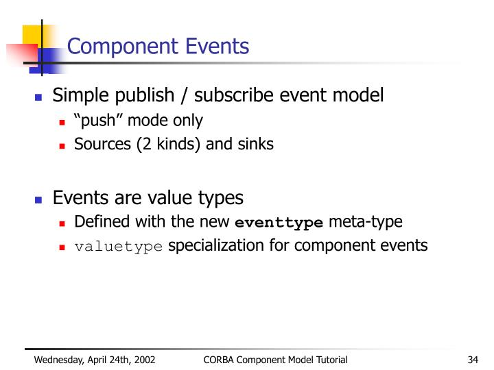 Component Events