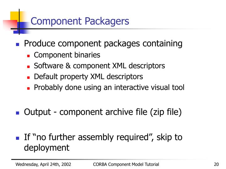 Component Packagers