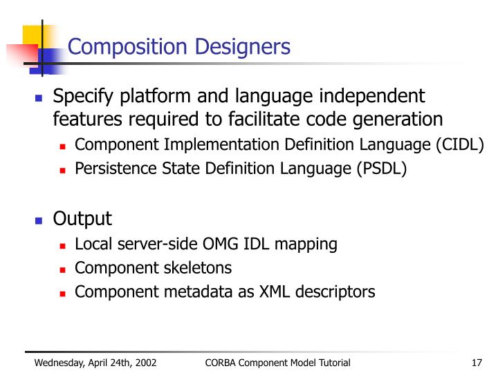 Composition Designers