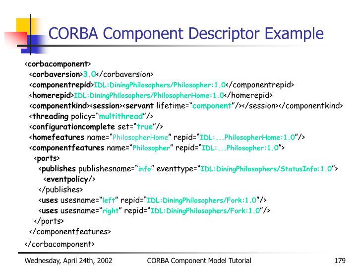 CORBA Component Descriptor Example