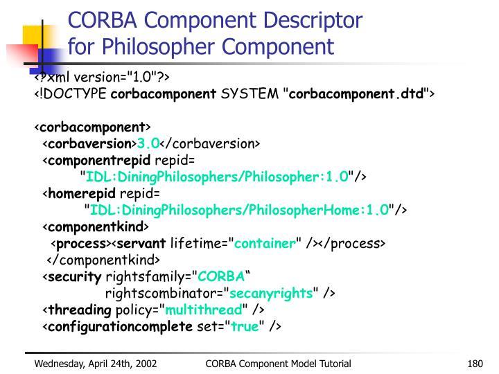 CORBA Component Descriptor