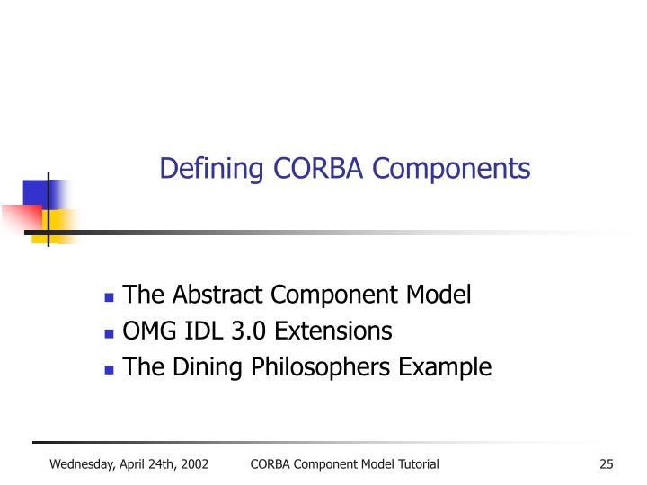 Defining CORBA Components