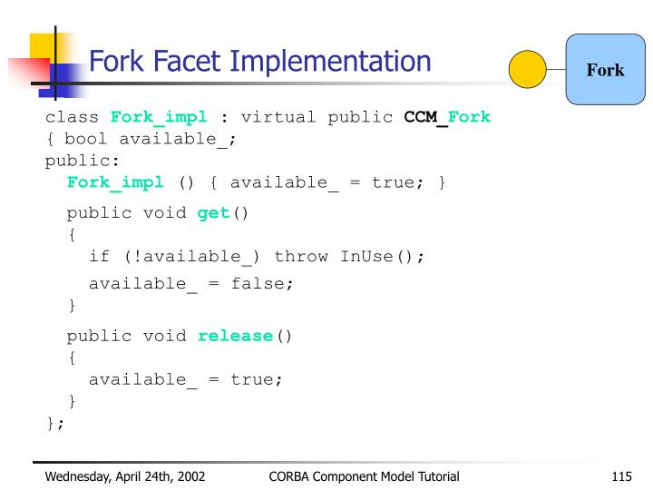 Fork Facet Implementation