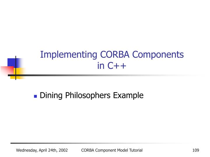Implementing CORBA Components