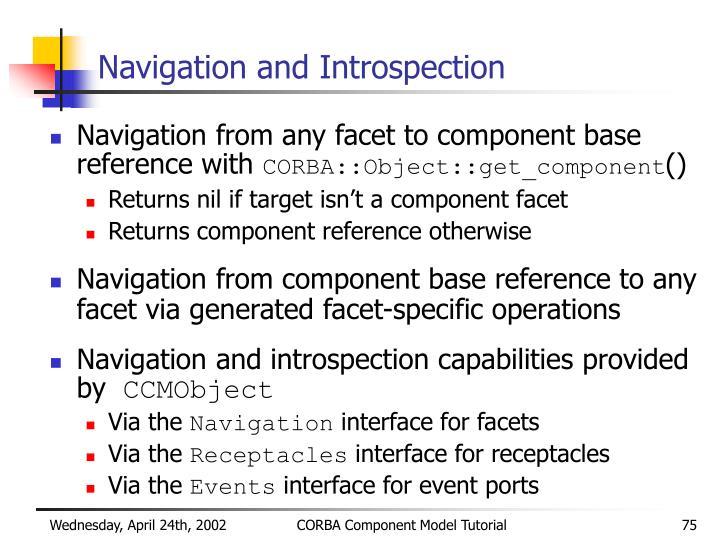 Navigation and Introspection