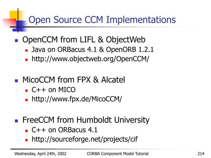 Open Source CCM Implementations
