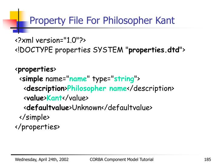 Property File For Philosopher Kant