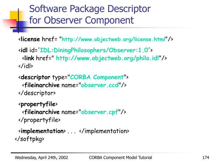 Software Package Descriptor