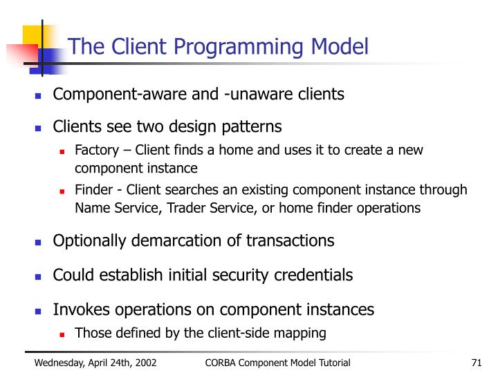 The Client Programming Model