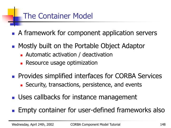 The Container Model