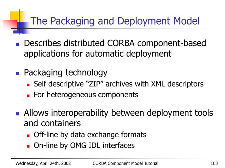 The Packaging and Deployment Model