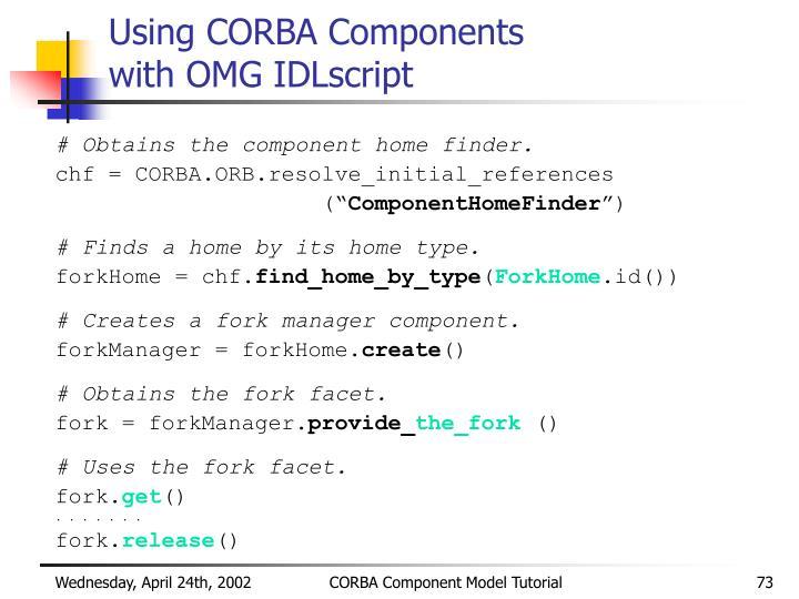 Using CORBA Components