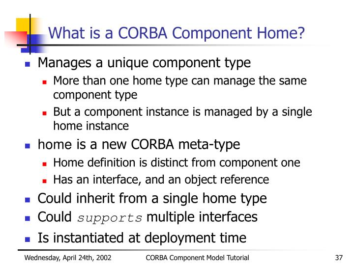 What is a CORBA Component Home?