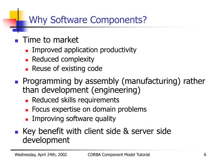Why Software Components?