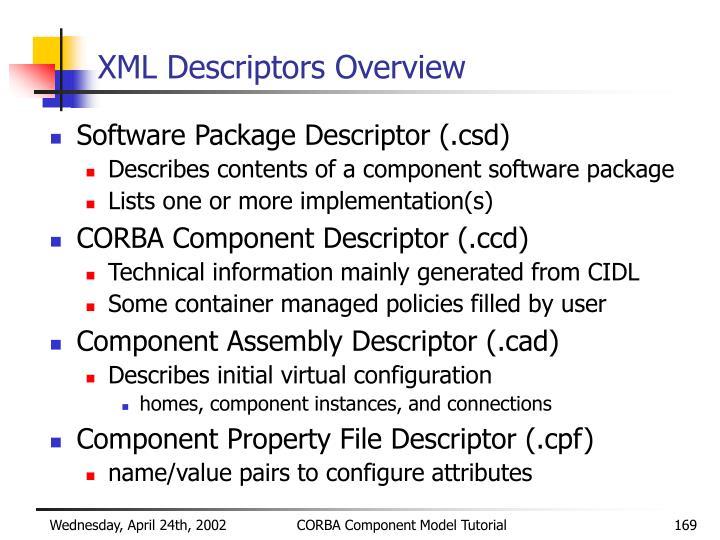XML Descriptors Overview