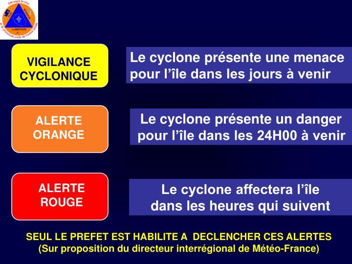 Le cyclone présente une menace