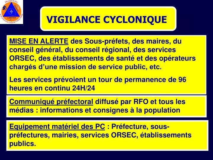 VIGILANCE CYCLONIQUE