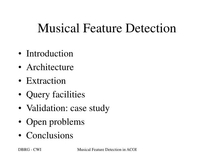 Musical feature detection1